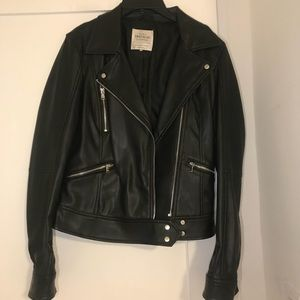 Zara Trafaluc Vegan Leather Jacket, size S